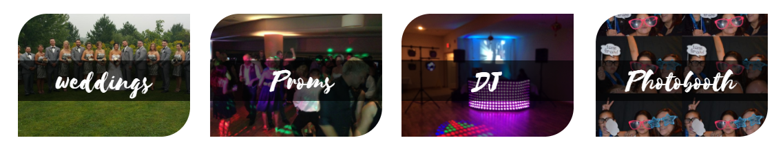 weddings and prom with DJ and Photo Booths